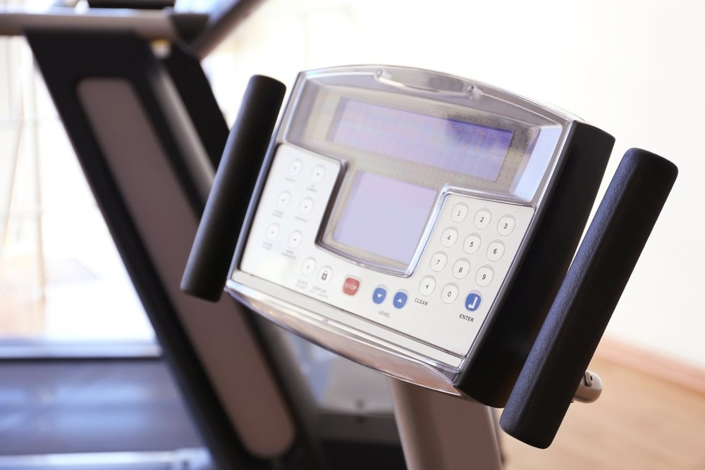 Ergometer mit Display