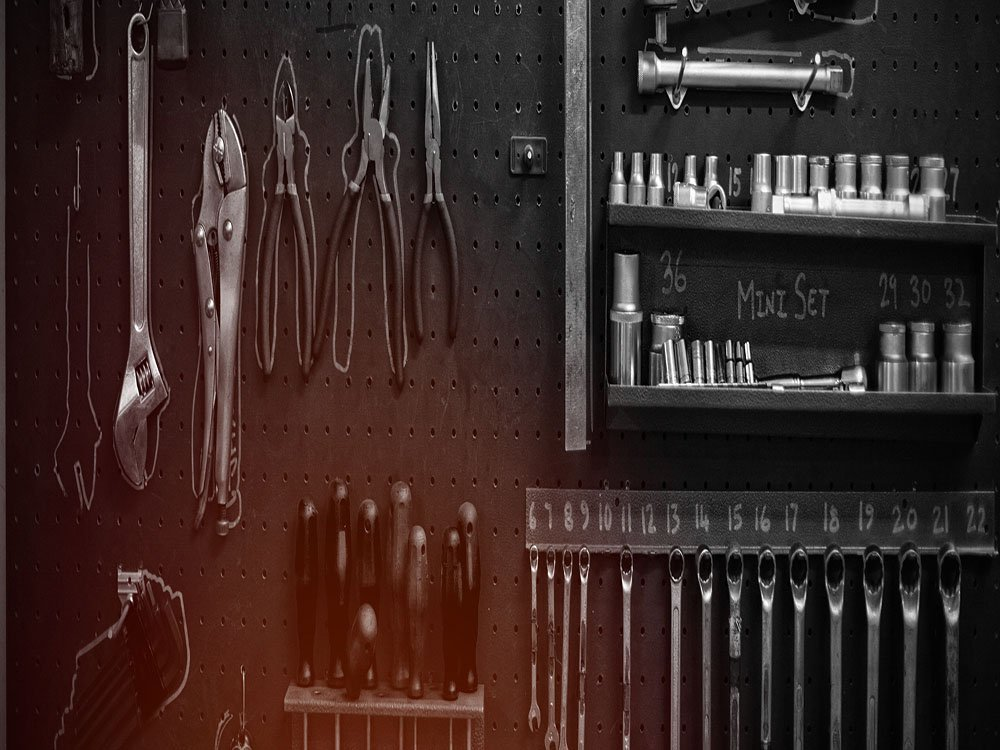 Various tools in garage