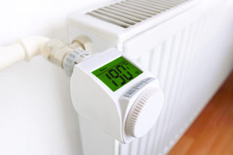 smart-home-thermostat mit display