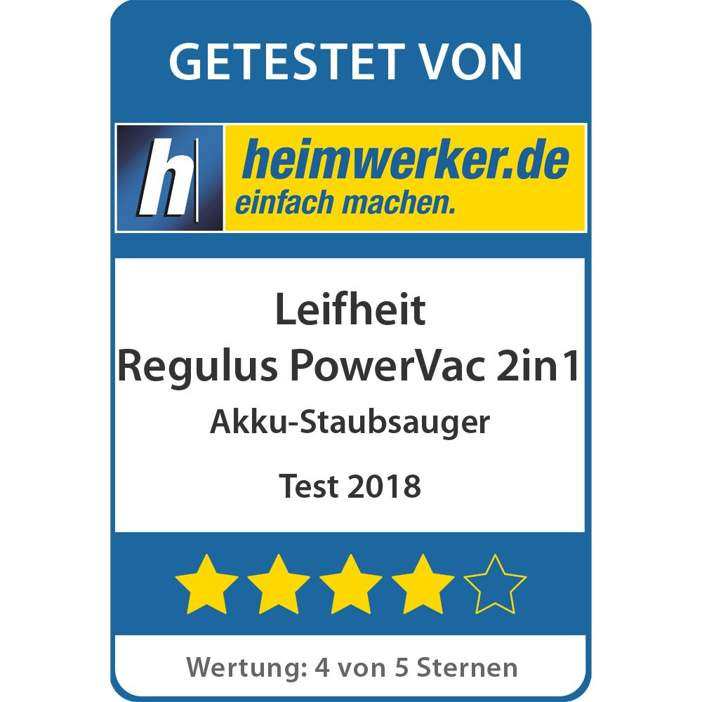 Test Akku-Staubsauger Regulus PowerVac 2in1 - Testsiegel